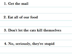 house sitter list