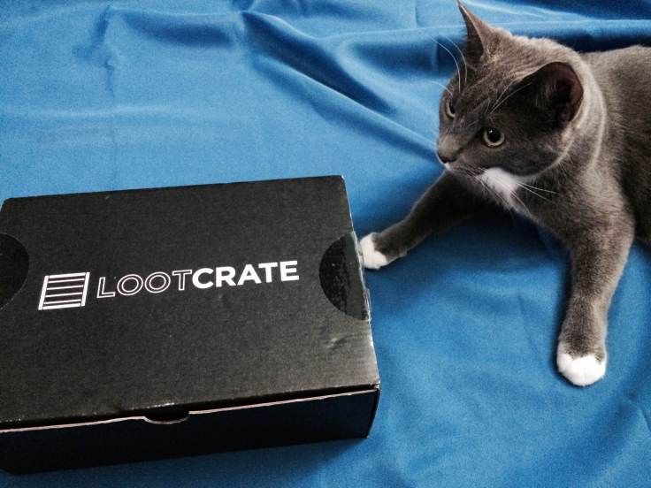August's Loot Crate is presented to you by Kitty #1! Okay, I have no control over the cats. She wanted to be in the photo, so she was in the photo.